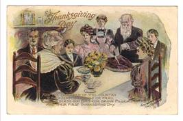 Vintage Thanksgiving Postcard Fred Lounsbury Poem Columbus Ohio 1909 image 1