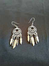 Dreamcatcher Earrings with Feathers and Multi-Color Beads - $15.95