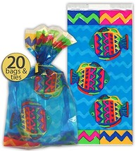 Set of 20 - Ocean Fish and Sea Party Favor Bags - Fish Treat Bags - Fish Party S