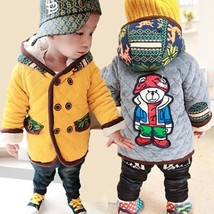 Bear Baby Boys Girls Hoodie Tops warm velvet coat jackets children's clo... - $32.54 CAD+