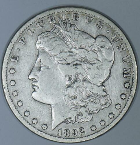 1892-CC Morgan Dollar; F-VF