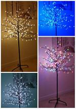 GRANDE 5ft 6FT ILLUMINARE 180/200/240 LED pre decorato Albero - $57.96+