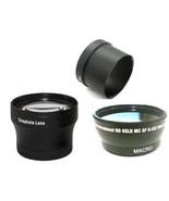 Wide Lens + Tele Lens + Tube Adapter bundle for Canon Powershot G7 G9 - $43.19