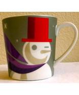 Starbucks Christmas 2011 Snowman Winking Holiday Mug 16 oz When We're To... - $10.90