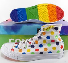Converse Pride by Miley Cyrus Rainbow Polka Dot Chuck Taylor Sneakers 16... - $87.96