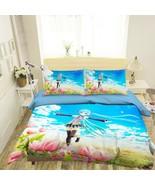 3D Blue-Haired Girl  P920 Japan Anime Bed Pillowcases Quilt Duvet Cover ... - $50.46+