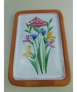 Terracotta Clay Tray EMERSON CREEK POTTERY  Floral Flowers Bedford Virgi... - $118.79