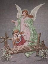 "GUARDIAN ANGEL Counted Cross Stitch Kit 2091 Leisure Arts 10"" x 13""  - $13.99"