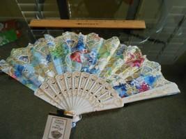 New pretty gold Glitter foldable Fan Asian Chinese Fan - $6.92
