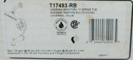 Delta Linden Monitor 17 Series Tub Shower Trim T17493RB Ventian Bronze image 9