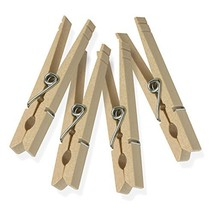 Honey-Can-Do DRY-01374 Wood Clothespins with Spring, 24-Pack, 3.3-inches... - £4.60 GBP