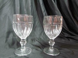 "Set Of 2 Clear Libbey Gibraltar Water/Iced Tea Goblets Glasses 6.75"" Tall - $18.99"