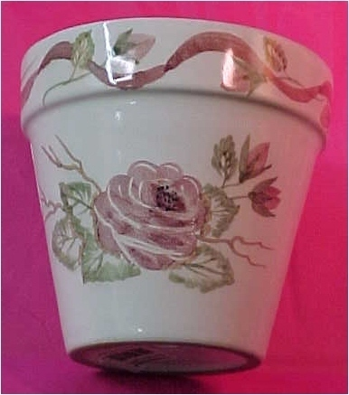 Shabby Chic Clay Flower Pot A Special Place