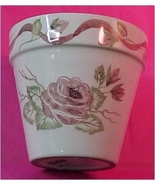 Shabby Chic Clay Flower Pot - $20.00