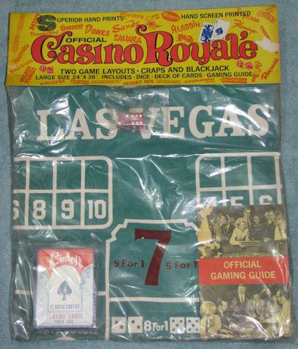 Vintage Casino Royale Table Layout Craps Blackjack NIP
