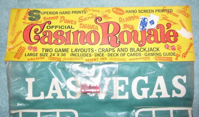 Vintage Casino Royale Table Layout Craps Blackjack NIP image 3