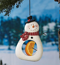 Snowman Seed And Fruit Feeder - $14.50