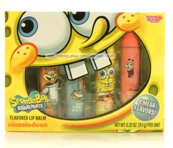LOTTA LUV* 4pc Gift Set SPONGEBOB SQUARE PANTS Lip Balm/Gloss MEGA/BIGGY 1b - $8.90