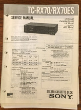 Sony TC-RX70 TC-RX70ES Cassette Service Manual *Original* - $13.08