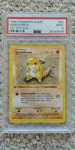 Pokemon Sandshrew 62/102 1st Edition Base Set PSA 9 1999 TCG Game Shadow... - $31.99