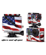 Skin Stickers for GoPro Hero 3+ Camera & Case Decal HERO3+ Go Pro USA FLAG - $9.85