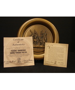 """Frederic Remington's """"Coming Thru the Rye"""" Bronze Collector Plate COA - $24.99"""