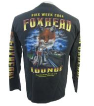 Foxhead Lounge T shirt sz M 2004 Bike Week Osteen Florida pub biker Henley - $19.79