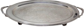 """Vintage 23"""" Oneida USA Silver Plated Large Footed Waiter Tray with Handles LARGE - $89.99"""