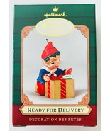 Ready for Delivery 2001 Hallmark Christmas Ornament Collector's Club Elf - $16.44