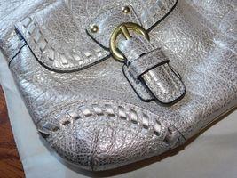Coach Poppy Metallic Leather Whipstitch Hippie Convertible Bag 19014 Platinum image 4