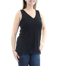 CABLE AND GAUGE  Womens New Black Lace Fringed Sleeveless Top L - $8.32