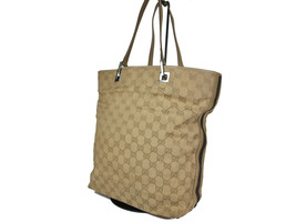 Authentic GUCCI GG Pattern Canvas Leather Olive Tote Bag GT9651L - $129.00