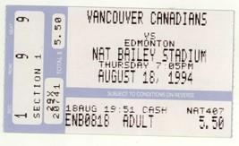 Edmonton Trappers @ Vancouver Canadians 8/18/94 Baseball Ticket Stub! - $3.36