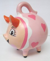 "AZAMAL YUCATAN MEXICO PINK PIGGY BANK HEART DESIGN Ceramic 8""TX7""W X 7""D - $44.95"
