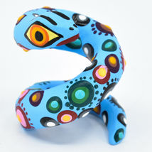 Alebrijes Oaxacan Copal Wood Carving Hand Carved Painted Folk Art Snake Figurine image 3