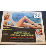 BRIGITTE BARDOT,M. MASTROIANNI (A VERY PRIVATE AFFAIR) ORIG,1962 MOVIE P... - $247.50