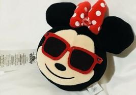 "Disney Minnie Mouse Emoji Plush Reversible 2 Faces 6"" X 5"" - $19.91"