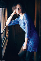 Anthropologie Urban Chic Lace Dress Medium 6 8 Blue HD Paris Sophisticat... - $86.21