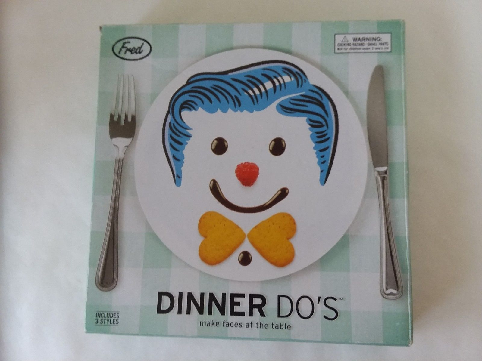 """2013 Fred Dinner Do's Boy Hairstyle Plates Includes 3 Plates 3 Styles 9"""" Diam - $18.55"""