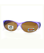 Fit Over Glasses Polarized Sunglasses Oval Frame Ombre Color Brown Lens - $10.95
