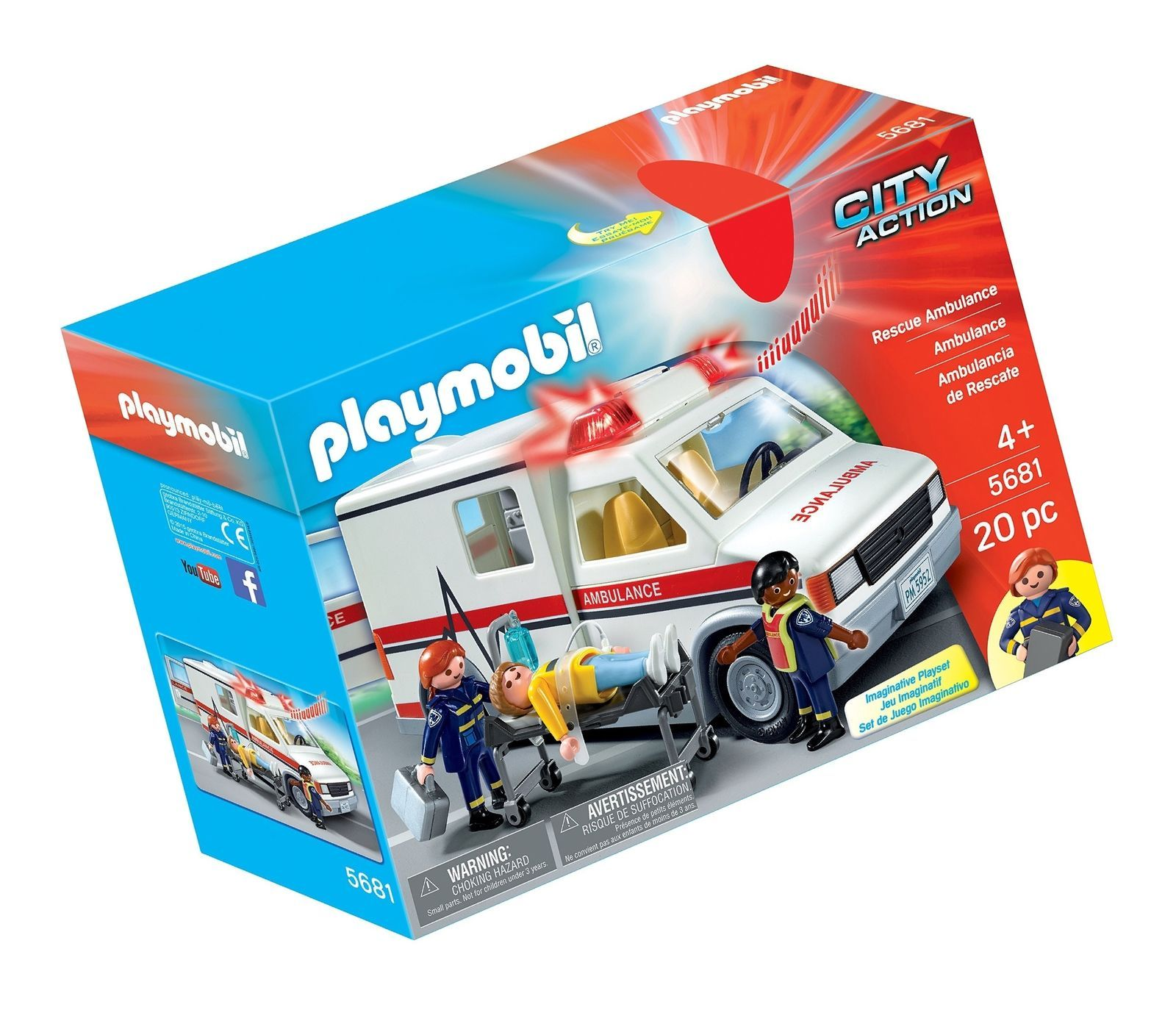 PLAYMOBIL Rescue Ambulance City Action [New] 5681
