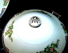 Serving Platter (Tray) and Tureen  AA18-1193  Vintage Meito China Hand Painted  image 2