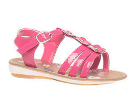 Girls Shoes Grosby Jessica Sandals Fuschia or White Patent Flower  Size ... - $20.33