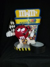 M & M's Racing Team Candy Dispenser - Flag Man Red Giving the Thumbs Up - $32.66