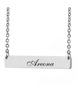 Custom Any Name Bar Necklace Christmas Mother Day Gift for Areona - $9.99+