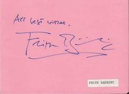 Frith Banbury Signed Vintage Album Page British actor director - $37.28