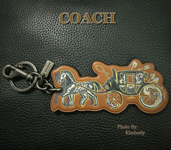 COACH Chelsea Tattoo Keychain Horse & Carriage Champlain Bag Charm NWT   - $37.62