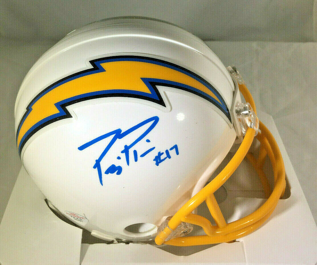 PHILLIP RIVERS / AUTOGRAPHED LOS ANGELES CHARGERS LOGO RIDDELL MINI HELMET / COA