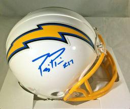 PHILLIP RIVERS / AUTOGRAPHED LOS ANGELES CHARGERS LOGO RIDDELL MINI HELMET / COA image 1