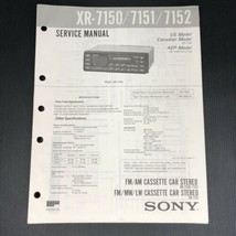 Sony Service Manual for the XR 7150 7151 7152 Cassette Player Radio Car ... - $12.99